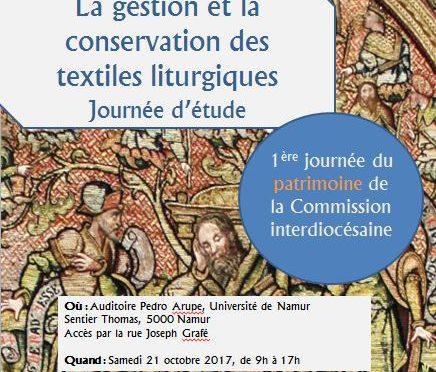 Les textiles? La Commission Interdiocésaine du Patrimoine Religieux s'y intéresse!