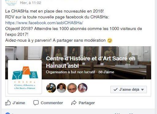 Nouvelle page facebook pour le CHASHa!